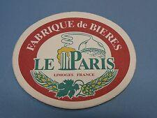 BEER Brewery Coaster Sous-Bock ~ Fabrique de Bieres ~ Le Paris ~ Limoges, FRANCE