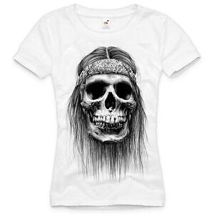 biker t shirt damen rock metall totenkopf indianer tattoo. Black Bedroom Furniture Sets. Home Design Ideas