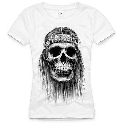 Damen T-Shirt ANTI CROSS Gothic 100/% Baumwolle schwarz weiß S M L XL