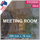 MEETING ROOM Custom Sign VINYL LETTERING ANY SIZE! Shop sticker decal (1004)