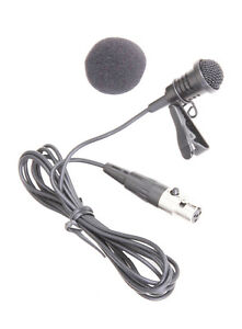 Clip-on-Lavalier-Lapel-Microphone-Mic-for-Shure-SLX-PG1-ULX-KCX-GLX-BLX-Wireless