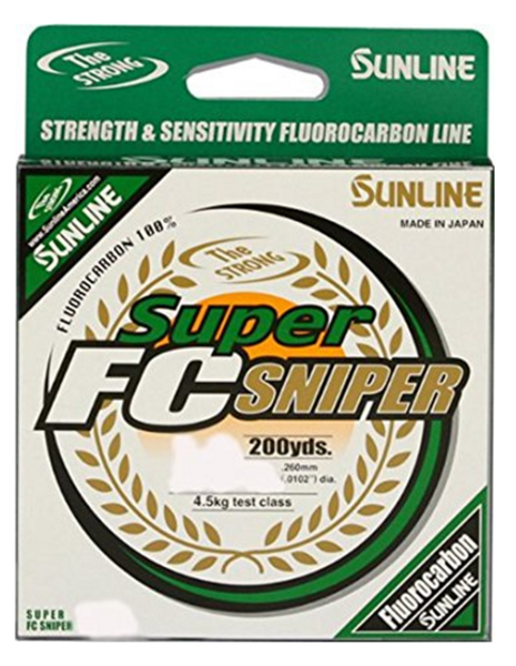 Sunline Super Fc Sniper Green Fluorocarbon Fishing Line 200 Yards Select Lb Test
