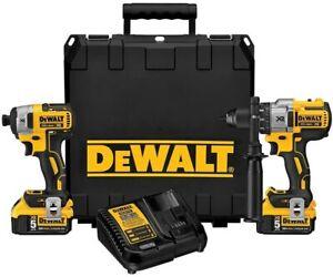 DeWALT DCK299P2, 20V MAX Brushless 2-Tool Combo Kit 5.0 Ah (Hammerdrill, Impact)