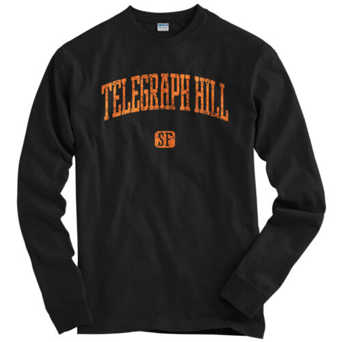 LS Men S-4X Telegraph Hill San Francisco Long Sleeve T-shirt Gift SF Cali CA