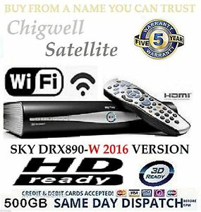 SKY-PLUS-HD-BOX-WIFI-500GB-SKY-AMSTRAD-DRX890W-BUILT-IN-WIRELESS-ON-DEMAND