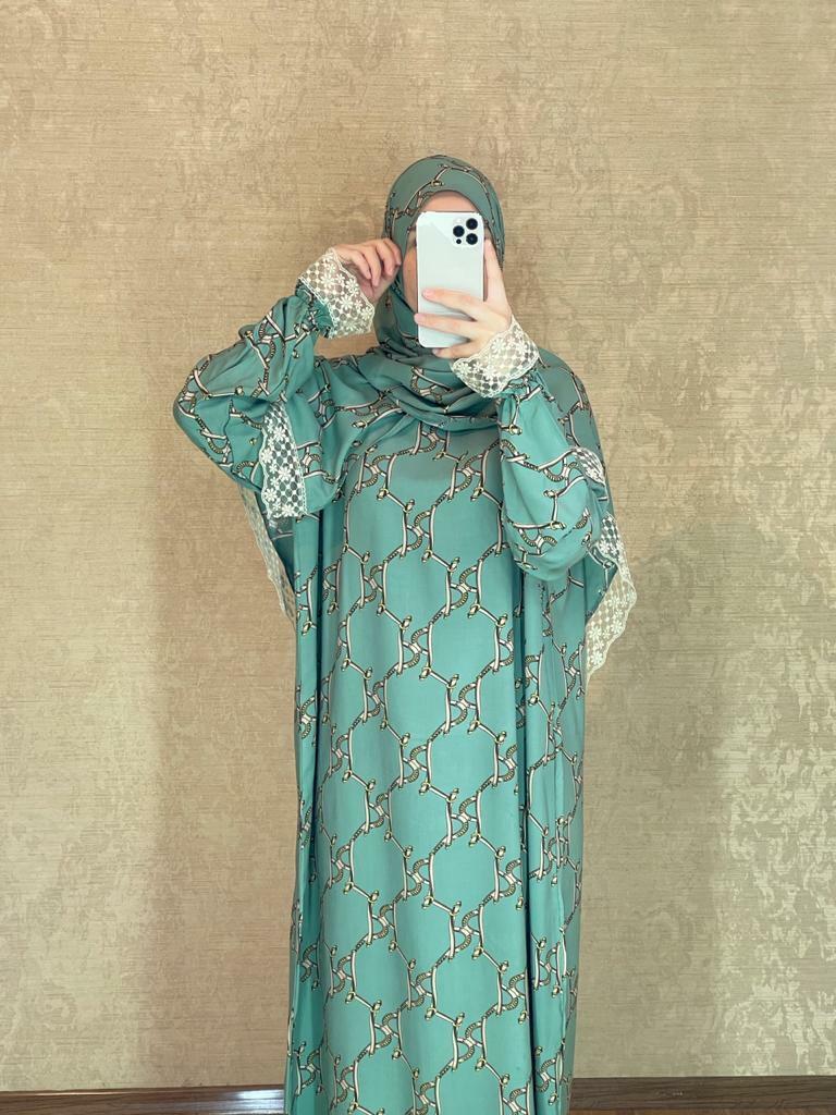 Prayer dress Mslim Women Prayer clothes dress Salah Abaya hijab Brand New