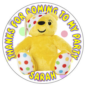 Personnalise-Pudsey-Ours-Stickers-Anniversaire-Fete-Thank-You-Sucre-Cones-Sac