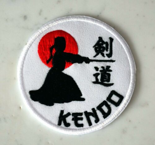 KENDO IRON ON PATCH Aufnäher Parche brodé patche toppa shinai kenjutsu Bōgu