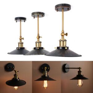 E27-Vintage-Plat-Abat-jour-Applique-Lampe-Loft-Murale-Spot-Edison-Bulb-Ampoule