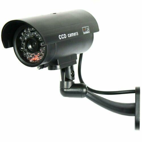 IR Bullet Fake Dummy Surveillance Security Camera CCTV /& Record Light Black