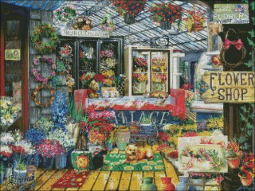 DIY Chart Counted Cross Stitch Patterns Needlework BWS320240086 Fresh Flowers