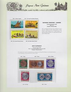 1975-PNG-PAPUA-NEW-GUINEA-Canoes-New-Currency-STAMP-SET-K-436