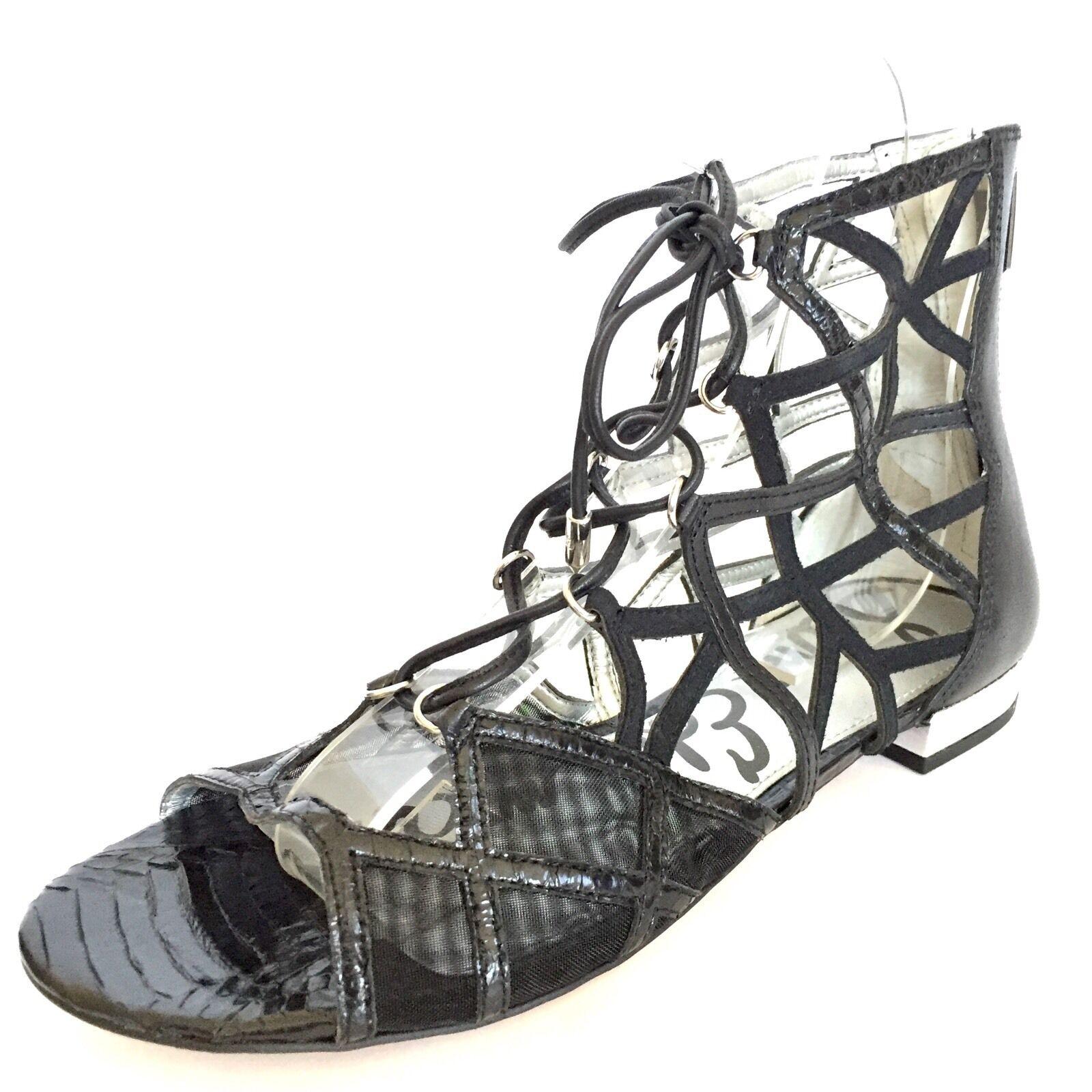 Sam Edelman Women's Denver Sandals Gladiator Leather Black Size 7 M RP  130