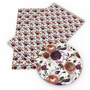 Chic-20-34cm-Flower-Printed-Faux-Leather-Sheets-For-Making-Handmade-Projects