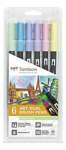 Tombow-Dual-Pastel-Brush-Pens-Markers-Felt-Tips-Pack-6