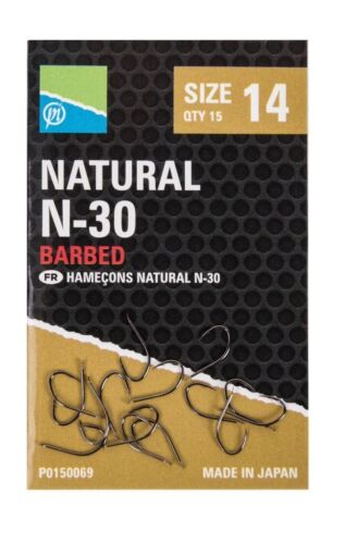 Brand New Preston Innovations Natural N30 N-30 Hooks All Sizes Available
