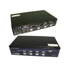 GP1289 KVM 4 Port VGA USB Audio Switch Box Black
