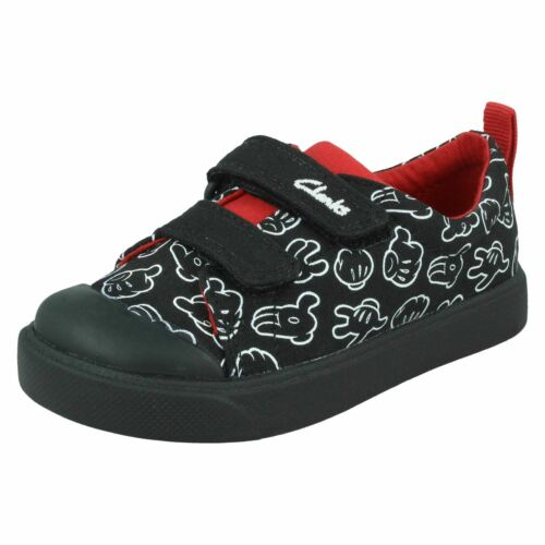 Boys Clarks Disney Collection /'City Glove T/' Casual Hook /& Loop Canvas Trainers