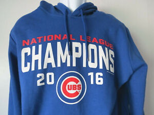 BLUE-CHICAGO-CUBS-SWEATSHIRT-Hoodie-2016-national-XL-EXTRA-LARGE-mlb-baseball