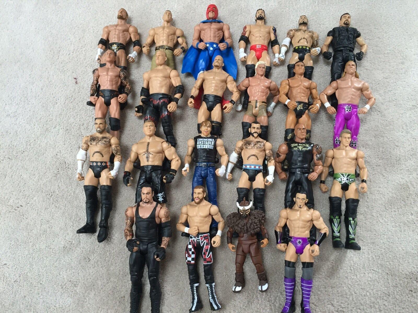 ventas en linea WWE Mattel Lote 7 7 7 de 22 figuras de lucha, Elite, Flashback, básico, WCW, ECW  promociones de equipo