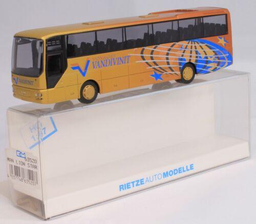 """Rietze 63520 MAN Lion/'s Star Regio Linienbus /""""Voyage Vandivinit/"""" Luxembourg 1:87"""