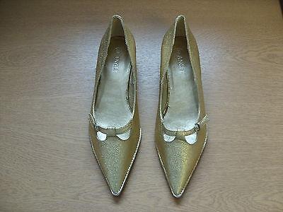 Zapatos señoras Angli Oro Brillo tribunales Size UK 5, EU 38, 1, 3227 Puntiagudo Tacón