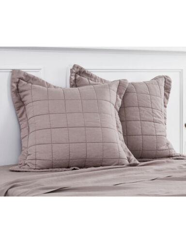 Sheridan Abbotson Belgian Linen European Pillow Sham Winter Berry