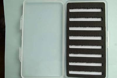 BOITE 400 MOUCHES 125x88x35 111g slit foam fly box fishing compartments