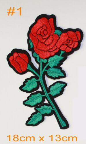 Sew On Patches Embroidery Rose Flowers  Iron on