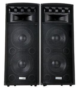 2x-ENCEINTE-DJ-PA-HAUT-PARLEUR-12-034-30CM-SONO-DISCO-CAISSON-DE-BASSES-1600W