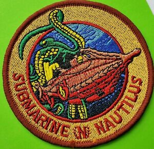 20,000 LEAGUES UNDER THE SEA SUBMARINE//NAUTILUS  EMBROIDERED IRON//SEWN ON  PATCH