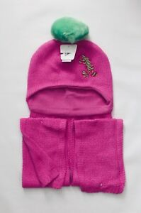 Disney Parks Mickey Mouse Beanie Hat and Scarf Pink Adult Size NEW