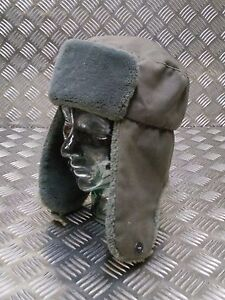 Genuine-German-Army-NVA-Grey-Cossack-Ushanka-Trapper-Hat-All-Sizes-Used