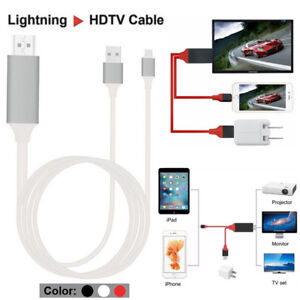 Lightning to HDMI Digital TV AV Adapter 2M Cable For iPad iPhone X 6 7 8 Plus