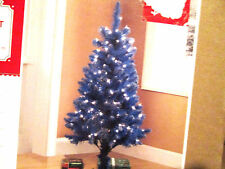 christmas holiday  4 FT pre-lit tinsel blue tree clear lights
