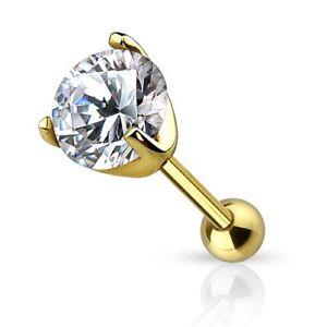 Autiga-oreja-piercing-14-quilates-585-real-oro-circonita-conector-Tragus-Helix
