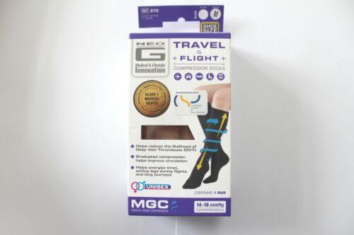 Neo G Travel /& Vol Compression Chaussettes 1 Paire-Choisir Couleur//Taille