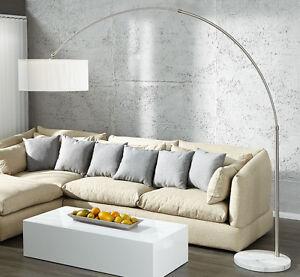 Piantana lampada ad arco Noble Bianco Marmo lounge design lampada ...