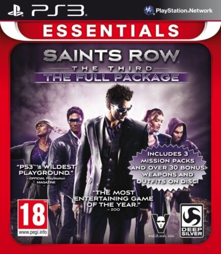 1 of 1 - Saints Row The Third - The Full Package (Essentials) (Playstation 3) NEW