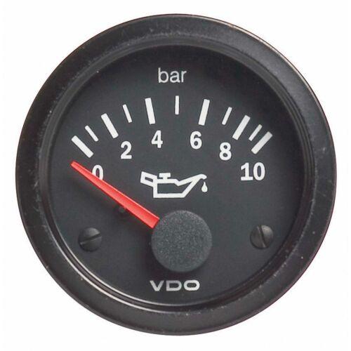 Electrical 52mm Diameter VDO Vision Car Oil Pressure Gauge 0-5 Bar