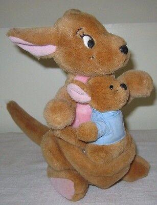 "Vintage Winnie The Pooh KANGA & ROO 12"" Plush Walt Disney World Exclusive"