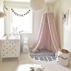 Image is loading Cute-Baby-Bed-Tent-Canopy-Round-Dome-Princess- & Cute Baby Bed Tent Canopy Round Dome Princess Kids Play Hanging ...