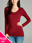 Women-PLUS-Long-Sleeve-V-NECK-T-Shirt-Active-Basic-Cotton-Layering-1XL-2XL-3XL thumbnail 14