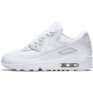 best service 9483b 077bb Image is loading Boys-039-Nike-Air-Max-90-Leather-GS-