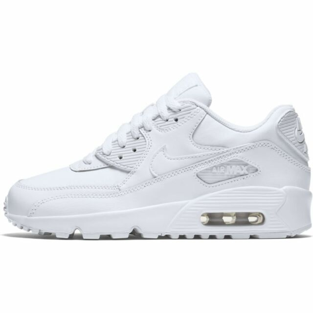 sale retailer dda98 d9b35 Boys  Nike Air Max 90 Leather (GS) Shoe 833412-100 WHITE
