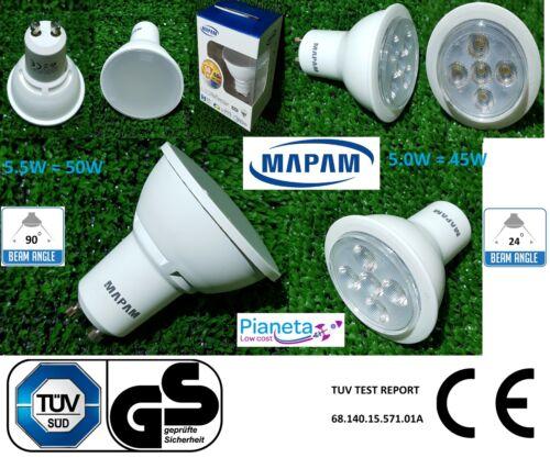 LAMPADINE FARO LED GU10 5.5W =50w Porta Faretto Incasso luce bianco freddo caldo