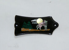 Truss Rod Cover with Wolf Scene Inlay will fit Gibson
