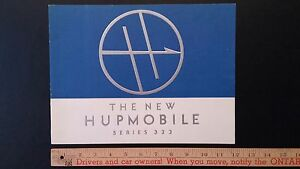 1933-HUPMOBILE-Model-322-Color-Catalog-Sales-Brochure-Mint-condition