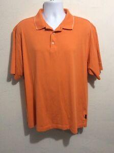 Nike-Golf-Dri-Fit-Orange-Polo-Shirt-Men-039-s-Sz-Large