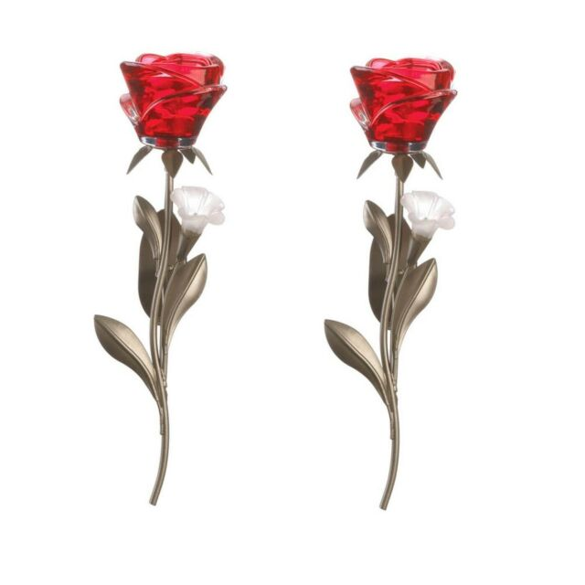 Beautiful Red Flowers Candleholder